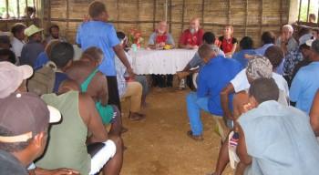 Land Right meeting in Vanuatu