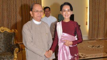 photo of Aung San Suu Kyi and Thein Sein