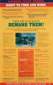 India's New Rights - Right to Food Poster