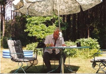 Benedict Anderson at his Freeville farmhouse, 1999 Photo credit: Apichai Shipper