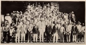 Some of the 143 international delegates who met at the Punahou School, Honolulu, Hawaii in July 1925 to formally establish the IPR.